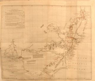 """""""Western Australia from the latest documents received by the Colonial Office, 1832""""; map in the complete volume for the Journal of the Royal Geographical Society of London, 1832."""