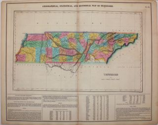 Geographical, Statistical, and Historical Map of Tennessee. Henry Carey, Isaac Lea.
