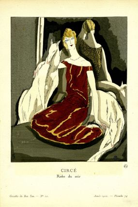 Circe, Robe du soir; Print from the Gazette du Bon Ton