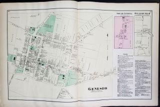 Atlas of Livingston Co. New York. From actual Surveys by and under the Direction of F.W. Beers.