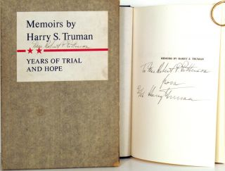 Memoirs by Harry S. Truman. Volume Two: Years of Trial and Hope 1946 - 1952. Harry S. Truman