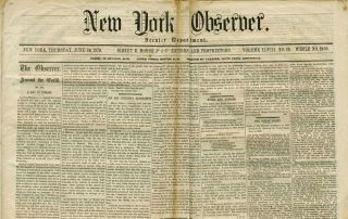 New York Observer: the new Peace Policy toward Native Americans in a speech by California Senator...