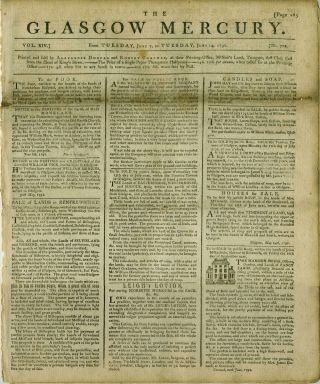 The Glasgow Mercury, 1791: British trade with Northwest Coast of America and China. Hawaii, North...