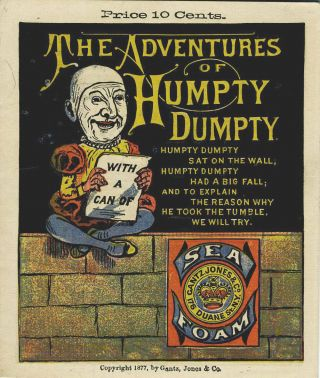 The Adventures of Humpty Dumpty. Advertising booklet for Sea Foam baking powder
