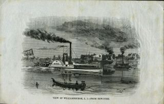 View of Williamsburgh, L. I. - From New-York, Proof. N. Y. Brooklyn