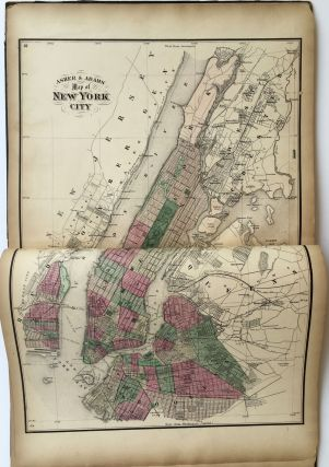 New Topographical Map of the State of New York Made from Official Records and Actual Surveys.