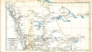 "Western Australian Maps from Petermann's Geographical Journal published in ""Mittheilungen aus..."