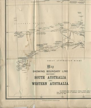 The Nullabor Plains and the West Boundary of the Province. Pamphlet.