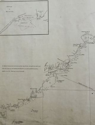 Sketch of Part of the East Coast of China and Western Part of Formosa with the Track of the Schooner Dhaulle in May & June 1827 by Geo. Blaxland.