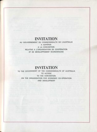 Invitation to the Government of the Commonwealth of Australia to Accede to the Convention on the Organisation for Economic Co-Operation and Development.
