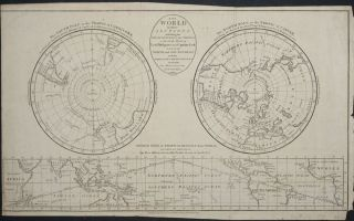 Geography. A Map of the World in three Sections...the Polar Regions to the Tropics in which are...