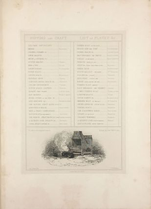 """""""Fifty Plates of Shipping and Craft Drawn and Etched by E.W. Cooke"""" [bound with] 12 additional proof plates of Brighton [with] 55 loose plates from the standard 1831 edition."""