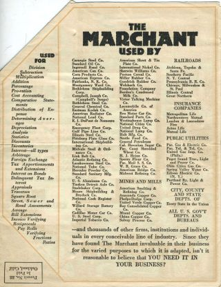 Marchant Calculating Machine Co. of Oakland, Ca. Pop Up folding advertising sheet.