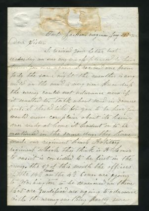 Civil War Letter, describing soldier's situation with the 14th Mass. Civil War, F. A. Woodman