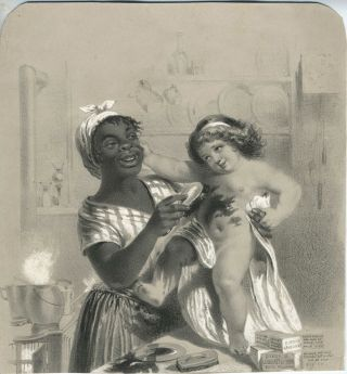 Dixon's Carburet of Iron Stove Polish. African American, Advertising