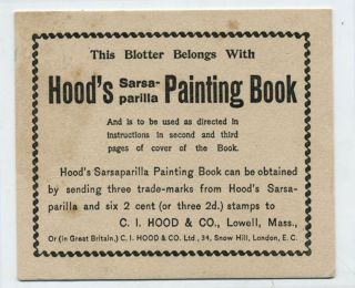 Hood's Sarsaparilla Painting Book.