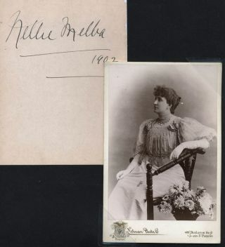 Nellie Melba Photograph [with] large autograph