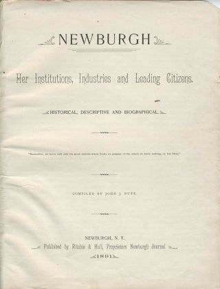 Newburgh. Her Institutions, Industries and Leading Citizens.