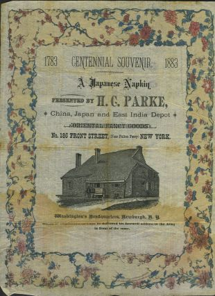 Washington's Headquarters in Newburgh, illustrated on a Japanese napkin, advertising by H.C....