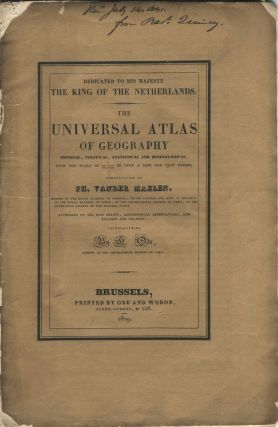Prospectus for The Universal Atlas of Geography: physical, political, statistical and...