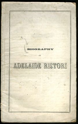 Biography of Adelaide Ristori. Australia, Theater
