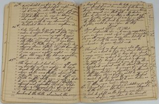 W.W.I Manuscript Journal recording the exploits of H.M.S. Doris in the Dardanelles in April 1915, as recorded by H. J. Bowden, Stoker.