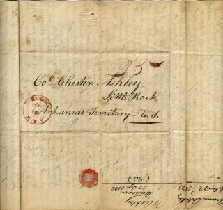 """Manuscript letter to son seeking his help with """"French land Claim"""""""