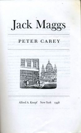 Jack Maggs. Uncorrected Proof.