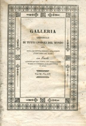"Capt. Cook's discovery of Hawaii in ""Galleria Universale di Tutti i Popoli del Mondo"", the single..."