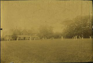 School Cricket Match, albumen photograph. Cricket, Photography