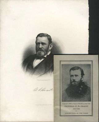 Steel engraved portrait of President U.S. Grant, with pamphlet. George D. Burnside.