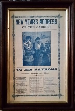 New Year's Address of the Carrier. Father Christmas illustrated broadside. New York