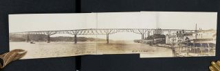 Photograph Album of Hudson River steamboat voyage south from Canada & Vermont.