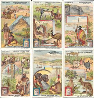 L'Australie, set of 6 trade cards. Australia, Trade Cards