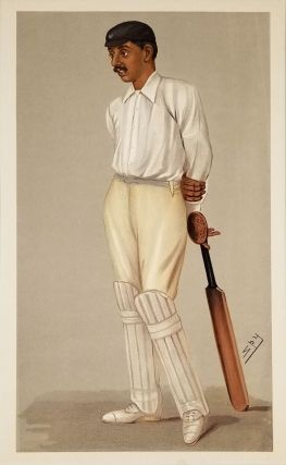 "Pre-Letter Proof of Ranji the Cricket Great, Spy cartoon. Cricket, India, ""Ranji"", Kumar Shri..."