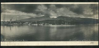 """Panoramic View of Papeete harbour"". Gelatin silver photo by renowned French photographer...."
