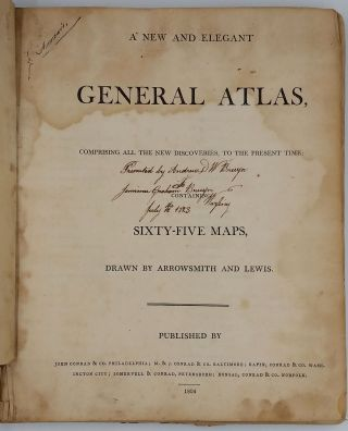 A New and Elegant General Atlas, comprising all the new discoveries, to the present time;...