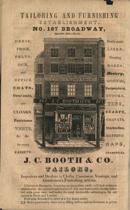 J. C. Booth & Co. Tailors. Handbill