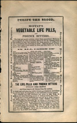 Moffat's Vegetable Life Pills and Phoenix Bitters. Handbill