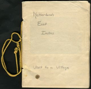 """Netherlands East Indies, Visit to a Village"". Soldier's handmade photograph album. WWII, US..."