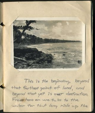 """Netherlands East Indies, Visit to a Village"". Soldier's handmade photograph album."
