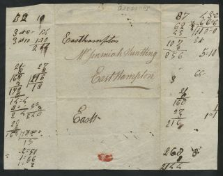 Jonathan Huntting Southold, Long Island to his brother. Manuscript letter.
