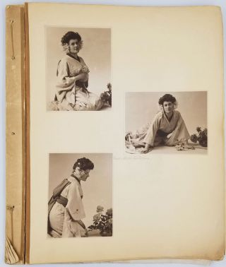 Sample book of 27 photographic portraits by H. Walter Barnett, the first world-renowned Australian photographer & early filmmaker.