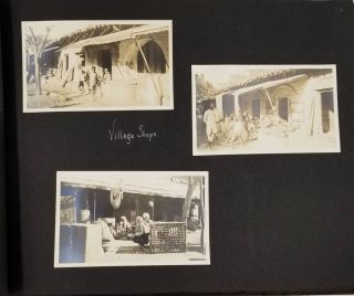 India Photograph Album, focused on people at work, women of different castes, marketplace scenes; a tour by an American couple.