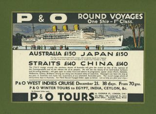 P&O Line Voyage Mock up artwork. Steamship art