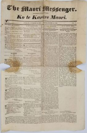 The Maori Messenger: Ko te Karere Maori newspaper from November 22, 1849, Vol. 1, No. 2. New...