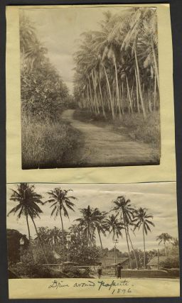 5 Papeete (Tahiti) Albumen photographs, including Brig 'Galilee'
