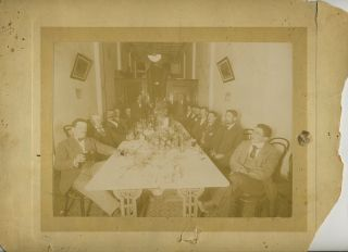 Men's Dinner Occasion by J.J. Dwyer in Kalgoorlie Western Australia, albumen photograph. J. J. Dwyer