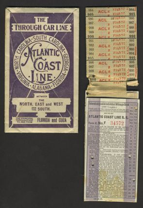 Atlantic Coast Line RR, 1918 signed & stamped ticket, with original envelope