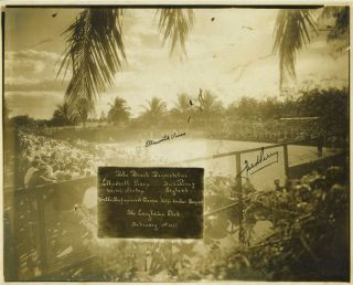 1937 Tennis Match of Ellsworth Vines v. Fred Perry, Palm Beach, Florida. A commemorative...